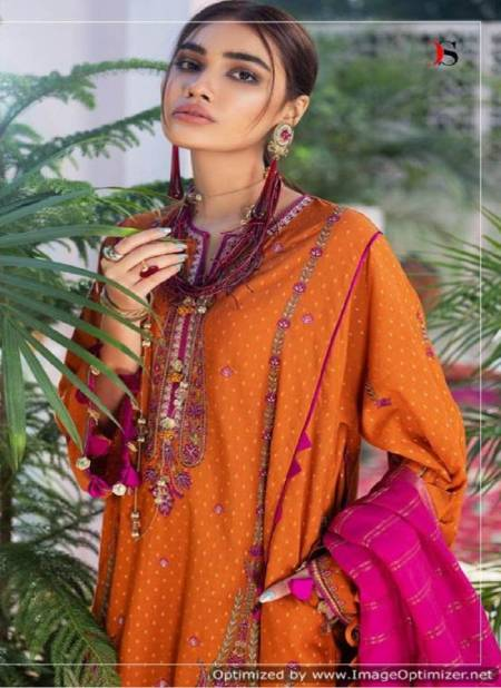 Deepsy Elan Latest Designer Festive Wear Cotton Print With Embroidery   Pakistani Suits Collection With Cotton Mal-Mal Dupatta