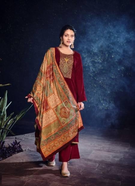 Deepsy Gulnar Winter Festive Wear Velvet Embroidery Designer Pashmina Collection