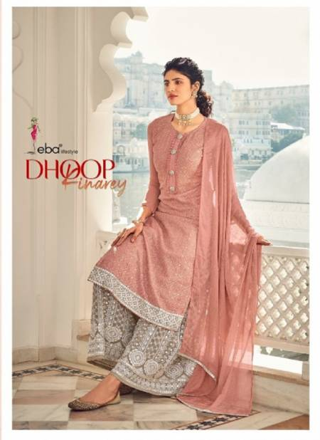 Eba Dhoop Kinarey Georgette with embroidery work Festive Wear Salwar Suits Collection