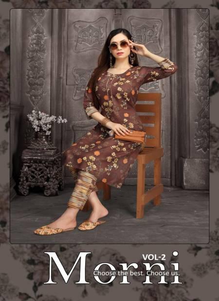 Fashion Talk Morni 2 Ethnic Wear Cotton Printed Kurtis With Bottom Collection