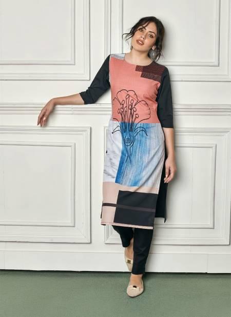 Feel Vol 1 Latest Designer Digital Printed Casual Wear Heavy Crepe Kurtis Collection
