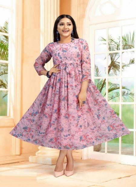 Fly free Sanam 3 Fancy Ethnic Wear Anarkali Long Printed Kurti Collection