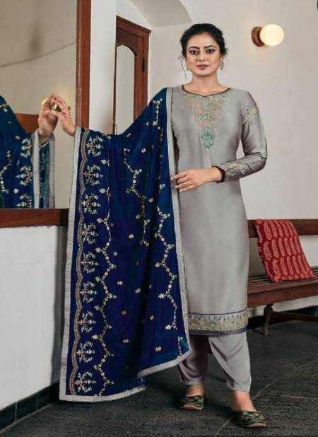 Four Dots Rivaaj Designer Modal Satin Embroidery Festive Wear Designer Salwar Kameez Collection