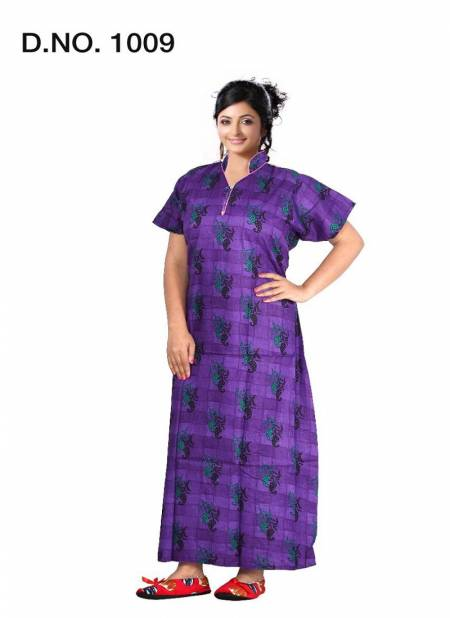 Ft 1009 Pure Cotton Print Casual Wear Nighty Collection