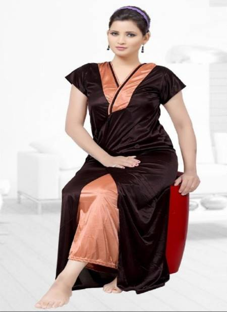 Ft Satin 5008 Top With Jacket Night Wear Latest Night Suits Collection