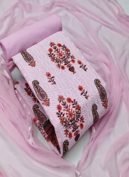 Georgette 21 Festive Wear Georgette Work With Printed Designer Dress Material