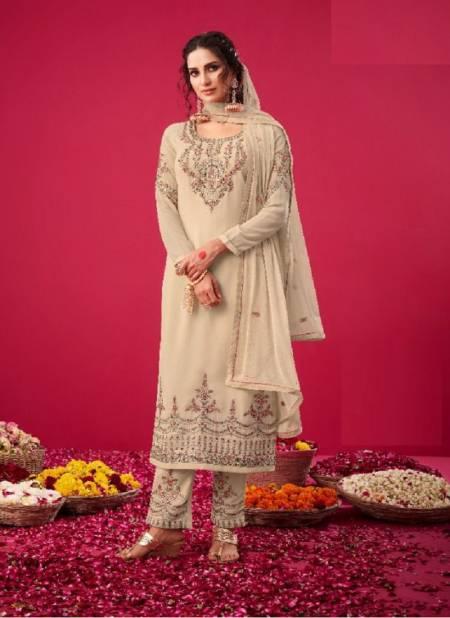 Glossy Naqsh 2808 Georgette Embroidery Work Heavy Wedding Wear Salwar Kameez Collection
