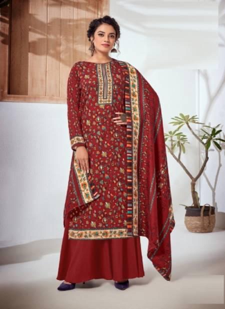 Harshit Mahru Digital Printed Casual Wear Pashmina Designer Dress Material Collection