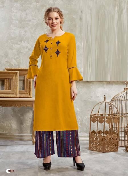 Hetvi Nidhi Ethnic Wear Rayon Designer Printed Kurtis With Bottom Collection