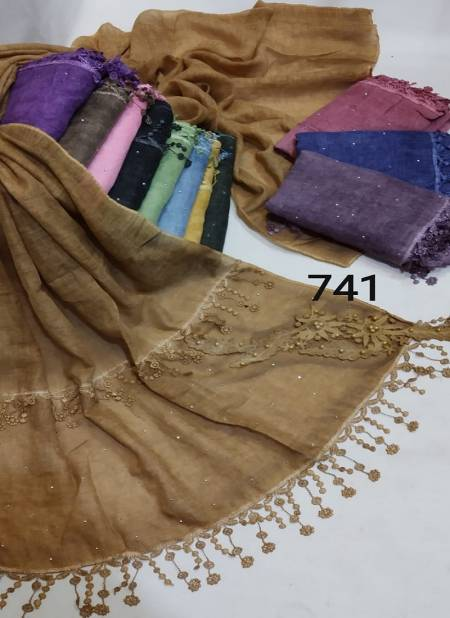 hijab 2003 Latest Fancy Casual Wear Hosiery Cotton Arabian Pallu Two Side Hijab Collection
