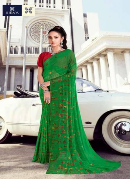 Hirva Saheli 7 Georgette Printed Ethnic Wear Designer Sarees Collection