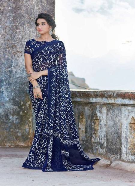 Hirva Shining Casual Daily Wear Georgette Printed Latest Saree Collection