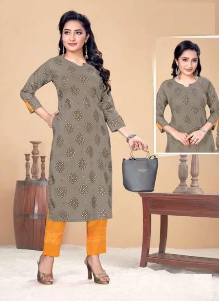 Hirwa Indi Chic Casual Wear Designer Fancy Kurtis With Bottom Collection
