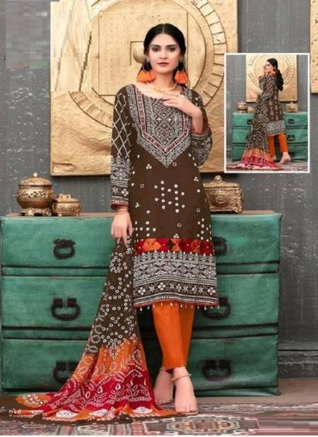 Jaliyan Tex Laila Bandhni Special Casual Wear Printed Cotton Dress Material
