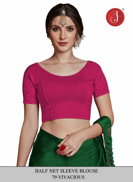 Jelite New Round Neck and One Half Net Sleeves Design Blouse collection