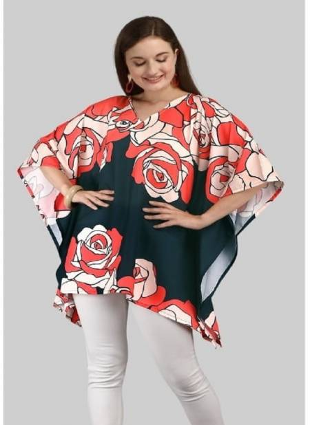 Jelite Tunic Kaftan Polyester Printed Casual Wear Collection