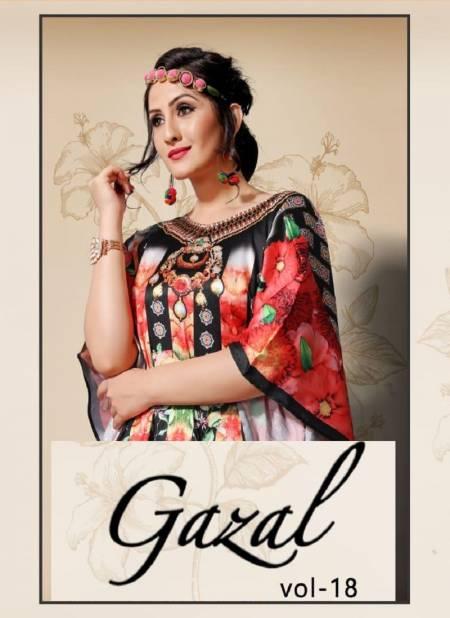 Jugnii Gazal Vol-18 Latest Exclusive Collection Digital Printed Kaftans