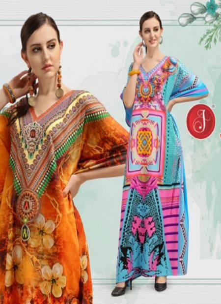 Kaftan Afreen Vol-2 Latest Fancy Designer Casual Wear Polyester Printed Kaftan Collection