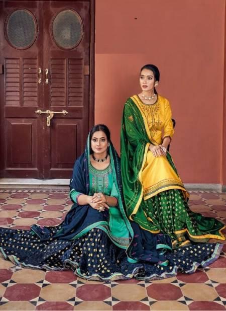 Kalarang Black Berry 5 Jam Silk With Embroidery Work Festive Wear Salwar Kameez Collection