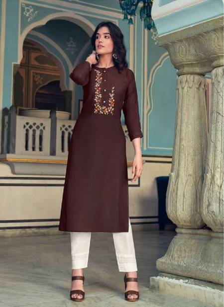 Kalaroop Lily 20 Fancy Wear Embroidery Ethnic Wear Designer Kurtis Collection