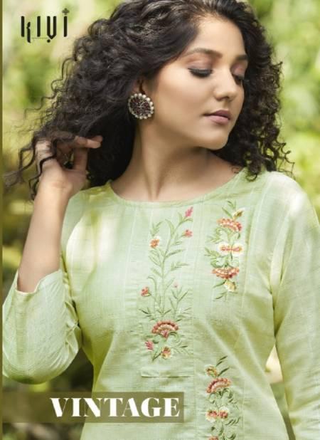 Kalaroop Vintage Fancy Ethnic Wear Silk Kurti With Bottom Collection