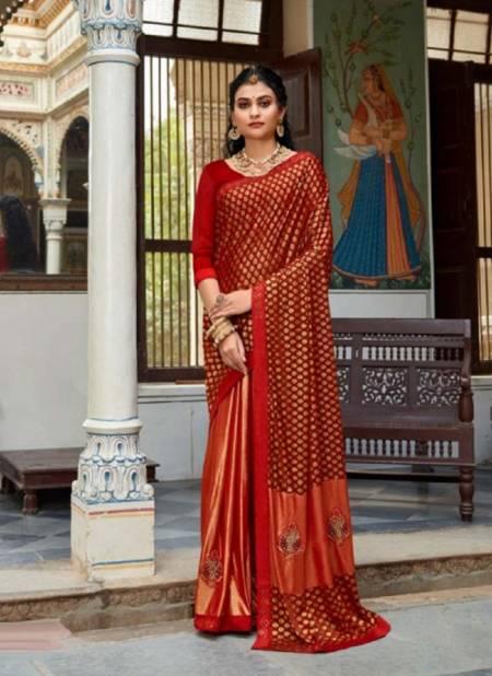 Kalista Cadbury 2 Party Wear Banarasi Printed Designer Silk Saree Collection