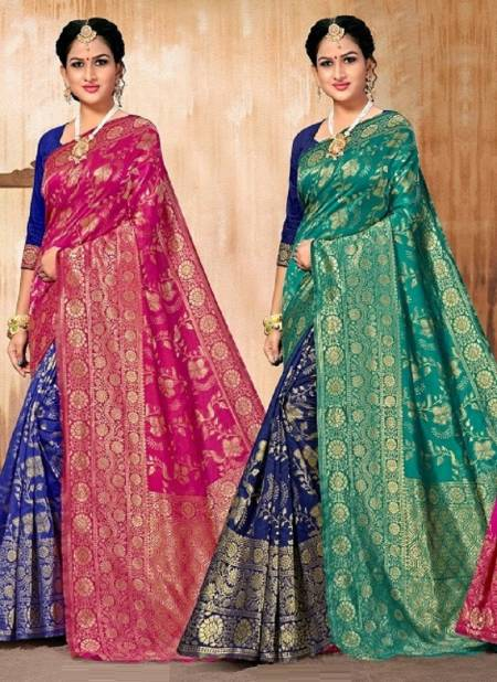 Kalista Golden Jubilee 2 Wedding Wear Banarasi Silk Designer Saree Collection