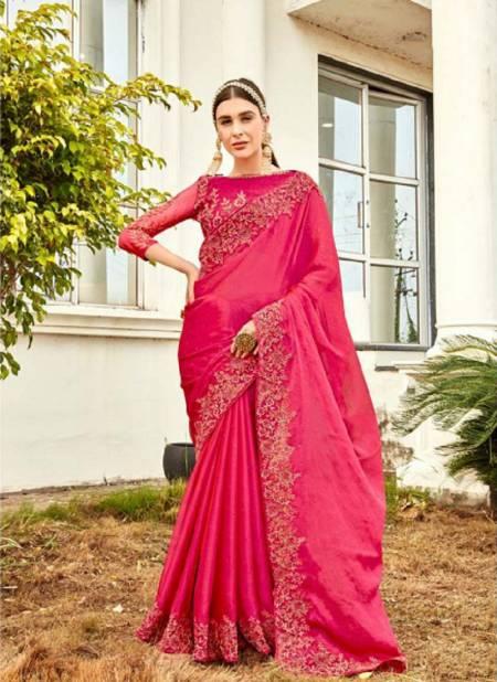 Kalista Harleen Gold Edition Party Wear Designer Vichitra Silk Latest Saree Collection