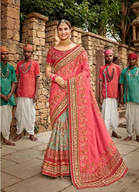 Kalista Khwaab 17 Wedding Wear Embroidery worked Latest Designer Heavy Saree Collection