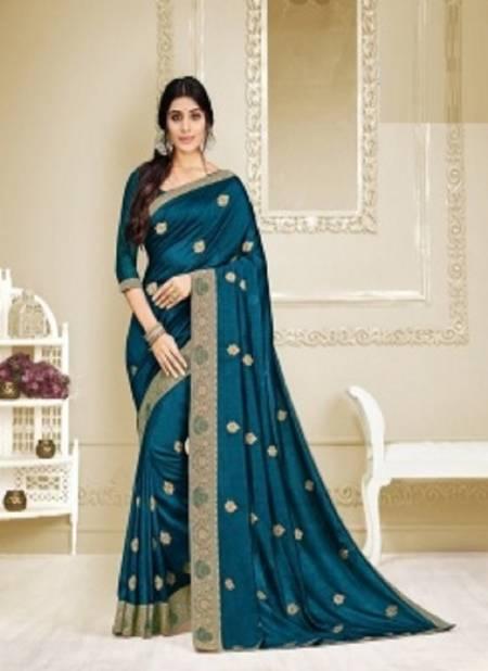 Kalista Vastrasutra Exclusive Wear Designer Vichitra Silk Fancy Saree Collection