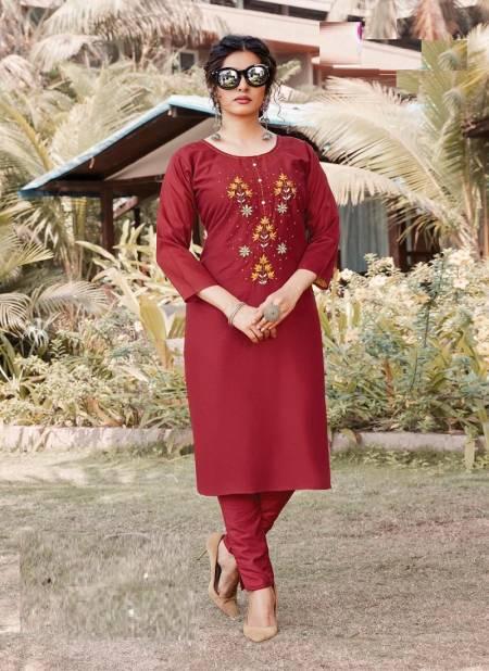 Kanasu Celebrity 3 Ethnic Wear Silk Designer Fancy Kurtis With Bottom Collection