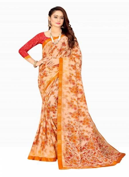 Kashvi Kesar Casual Regular Wear Printed Chiffon Designer Saree Collection