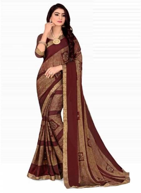 Kashvi Simar Black Rangoli Regular Wear Chiffon Printed Fancy Saree Collection