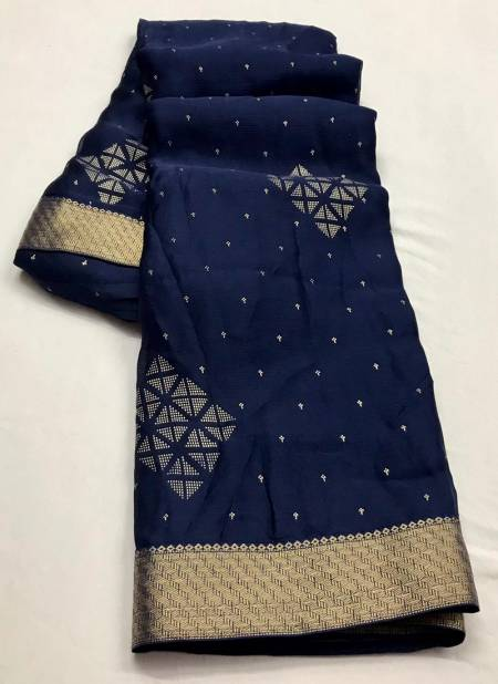 KASHVI TEERTH Designer Fancy Moss chiffon Heavy Designer saree Collection