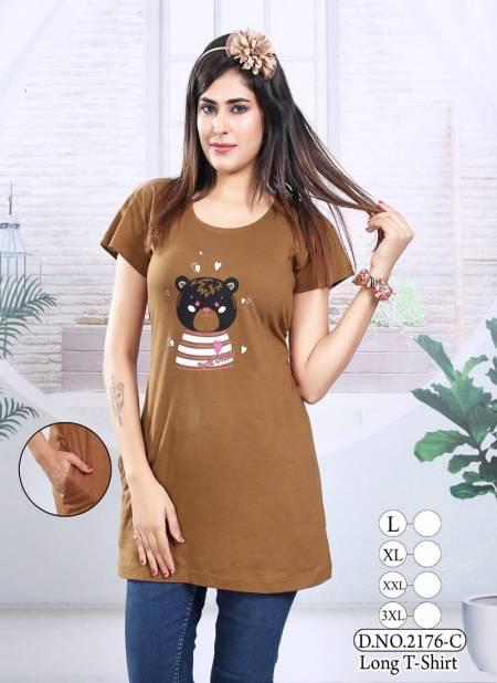 Kavyansika Long Top 2176 Night Wear Hosiery Cotton Long T-shirt Collection