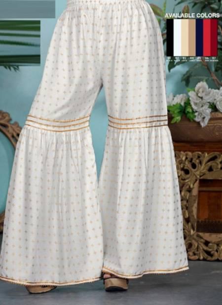 Kavyansika Neha Premium Plazzo Pant Rayon Fancy Patiyala Collection