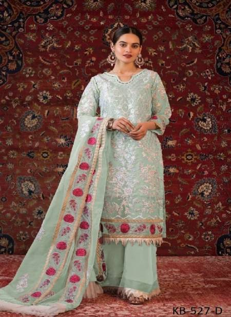 Kb Super Hit 527 Festive Wear Fox Georgette With Embroidery Work Pakistani Salwar Kameez Collection