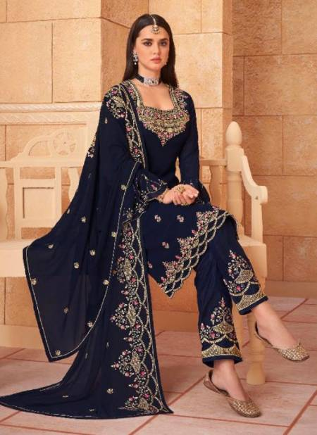 Kesari Hayat 1 Festive Wear Georgette Embroidery Diamond Work  Designer Salwar Kameez Collection