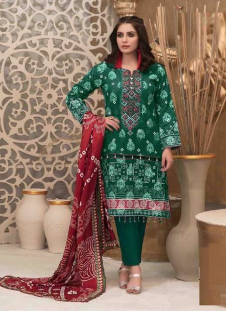 Keval Alija Bandhani Special Exclusive Casual Wear Karachi Cotton Printed Dress Material collection