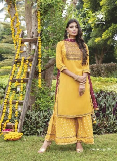 Kiana Glimmering Maslin Designer Festive Wear Ready Made Dress Collection