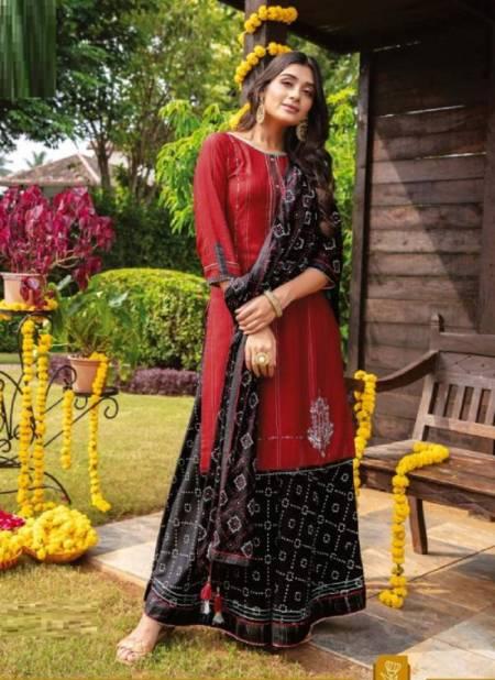 Kiana Inayat Fancy Festive Wear Kurti With Sharara And Dupatta Readymade Collection