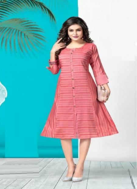 Kinti Blue Hills 3 Ethnic Wear Anarkali Designer Cotton Weaving Kurti Collection
