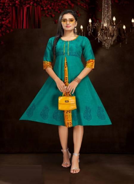 Kinti Colour Fountain 3 Fancy Ethnic Wear Rayon Anarkali Kurti Collection