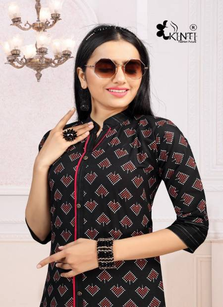 Kinti Crypto Currency 6 Casual Wear Printed Cotton Kurtis Collection