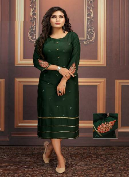 Kinti Equal 3 Ethnic Wear Sequence Embroidery Latest Kurti Collection