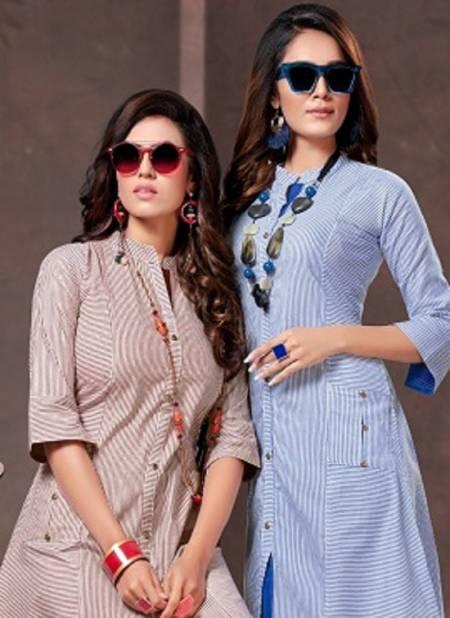 Kinti Mariya 10 latest Fancy daily wear Handloom Cotton Printed Kurti Collection
