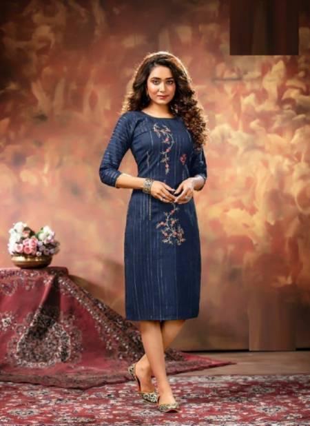 Kinti Silver Line Ethnic Wear Designer Fancy Embroidery Kurti Collection