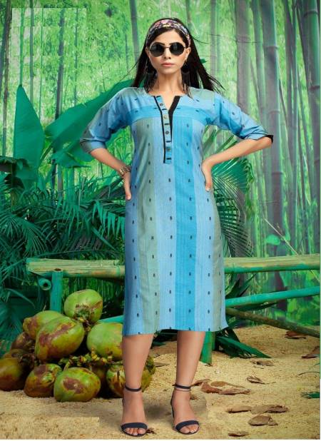 Kinti Walkway Handloom Ethnic Wear South Cotton Straight Designer Kurtis Collection