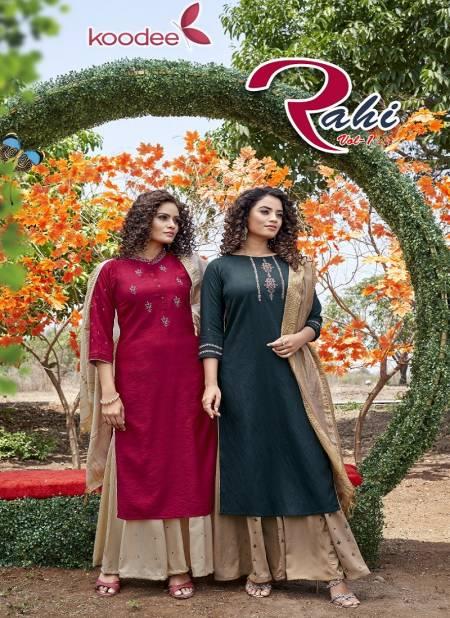 Koodee Rahi 1 Designer Festive Wear Pure Nylon Viscose Readymade Collection