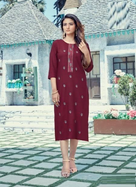 Krishriyaa Blush Ethnic Wear Viscose Rayon Designer Latest Kurti Collection